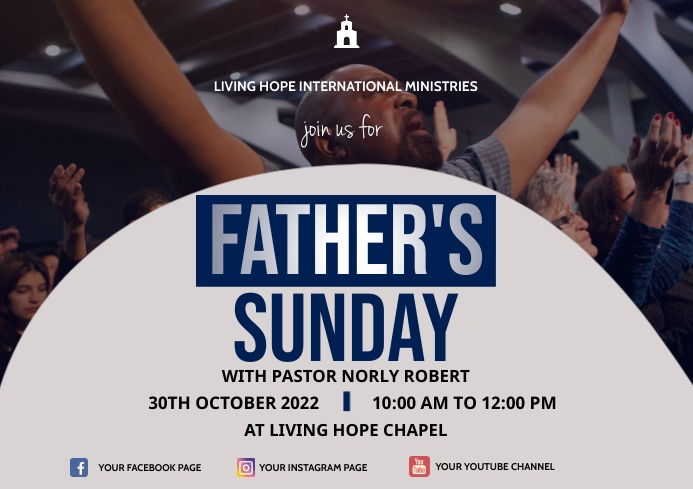 father's Sunday A3 template