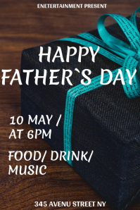 Father`s Day flyer template