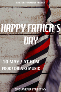 Father`s Day flyer template Plakat