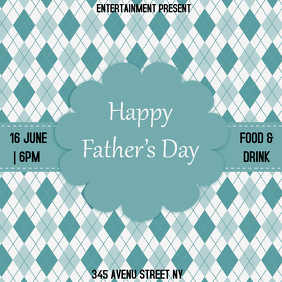 Father`s day flyer template Capa de álbum