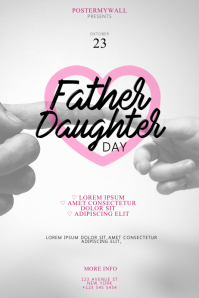 Father–Daughter Day Flyer Design Template