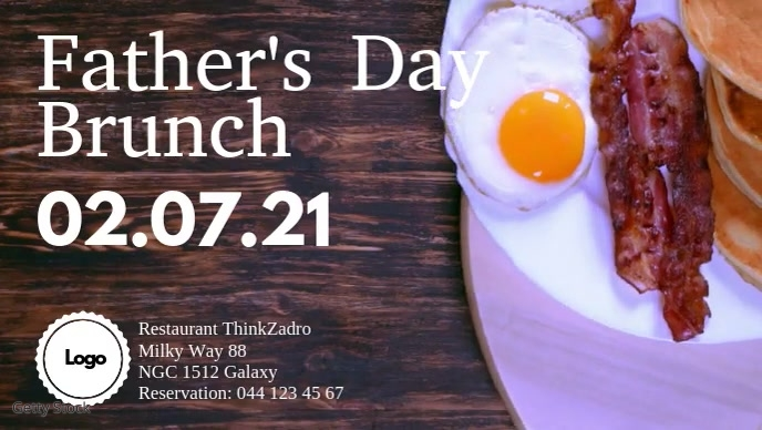 Father's Day Brunch Restaurant Ad Video template