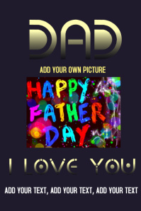 Father's Day design your own card