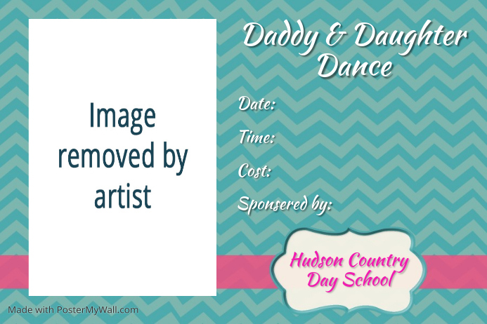 Father Daddy Daughter Dance Fundraiser Event Flyer Poster