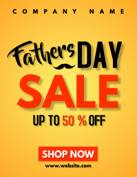 father day sales flyer advertisement Pamflet (Letter AS) template
