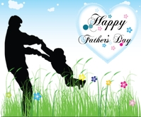 Father Playing with daughter Background desig Großes Rechteck template