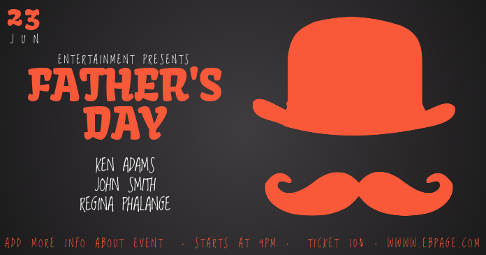 father s day facebook event facebook post template postermywall