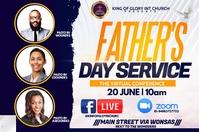 Father s day service Etiqueta template