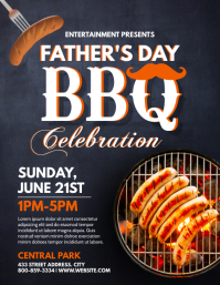 FATHERS BBQ Folder (US Letter) template