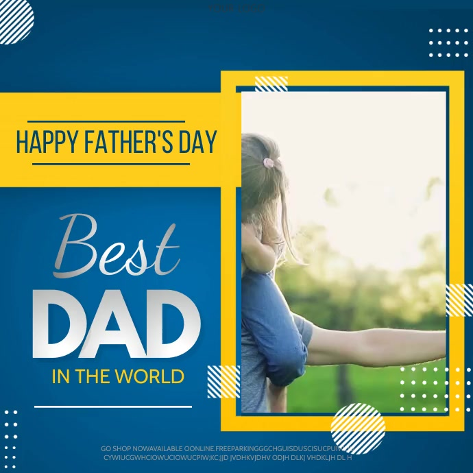fathers day,Happy fathers day Vierkant (1:1) template