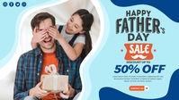 Fathers Day Banner Facebook-omslagvideo (16: 9) template