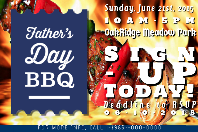 Father's Day BBQ Barbeque Flyer