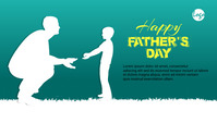 Fathers Day blog header post template