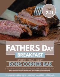 FATHERS DAY BREAKFAST Flyer (US Letter) template