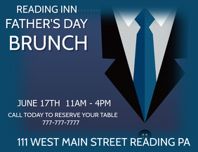 FATHERS DAY BRUNCH FLYER TEMPLATE
