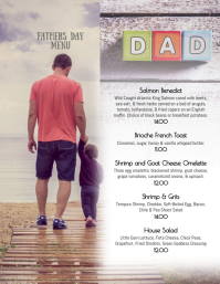 Fathers Day Brunch Menu Template