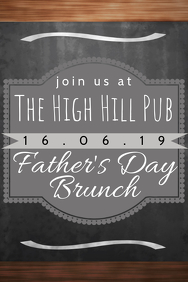 fathers day brunch poster