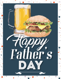 Fathers Day Burger Beer Flyer Template