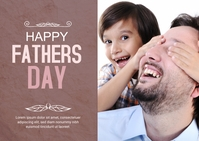 Fathers Day Card Briefkaart template
