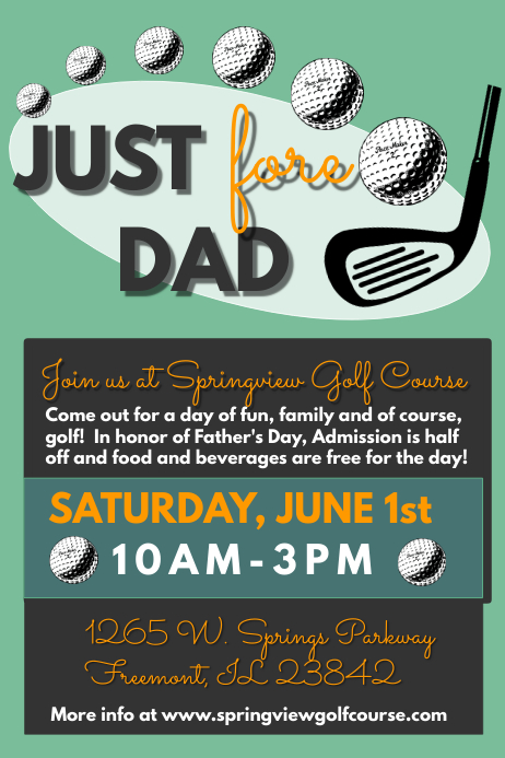 Father's Day Celebration Póster template