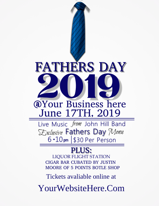 Fathers Day Folder (US Letter) template