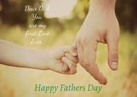 Fathers Day Briefkaart template