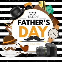 fathers day Vierkant (1:1) template