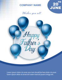 Fathers day Flyer (US-Letter) template