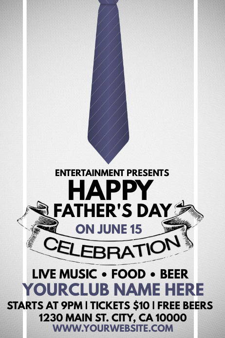 Fathers Day Cartaz template