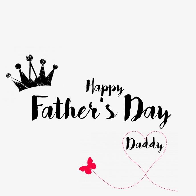fathers day Capa de álbum template