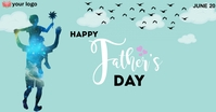 fathers day Facebook-Anzeige template
