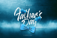 Fathers Day Cartel de 4 × 6 pulg. template