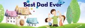 Fathers Day Banner do LinkedIn template