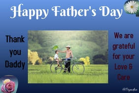 fathers day Banner 4' × 6' template