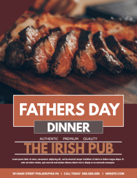 FATHERS DAY DINNER Flyer (US Letter) template