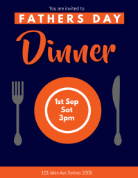 fathers day dinner template Flyer (US Letter)