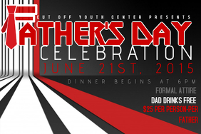 FATHERS DAY EVENT FLYER POSTER HOLIDAY AD