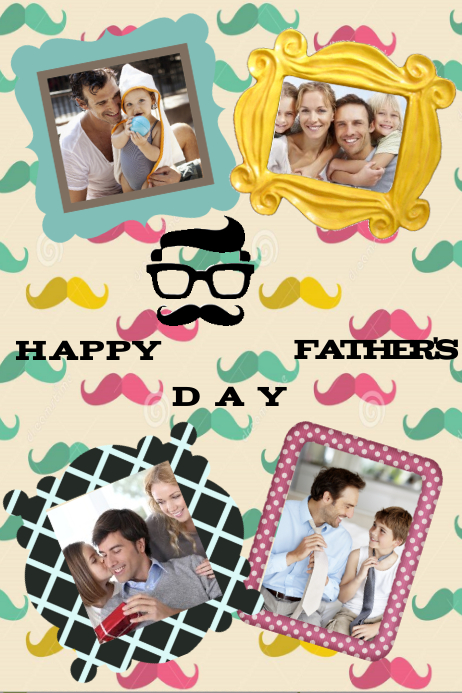 father s day family collage gift wall decor template postermywall