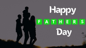 fathers day flyer Digitale display (16:9) template