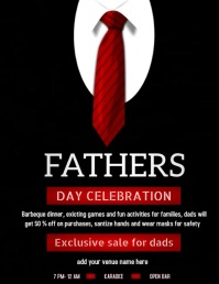 fathers day Flyer Ulotka (US Letter) template