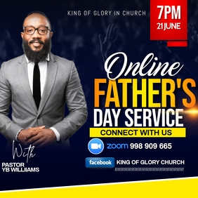 FATHERS DAY FLYER Instagram na Post template