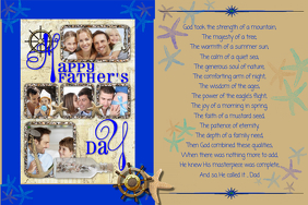 Father's Day Gift Collage Poem Wall Art Decor Poster template