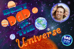 Father's Day Gift Best Dad Universe Wall Art Family Collage