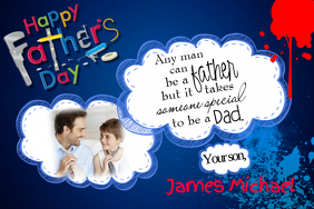 Father's Day Dad Gift Wall Art Decor or Card