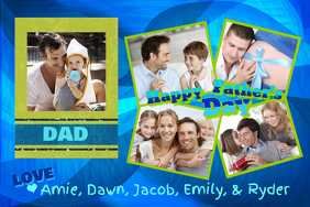 FATHER'S DAY GIFT FOR DAD WALL ART COLLAGE