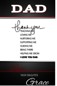 Thank You Dad Father's Day Gift Art Wall Decor Poster