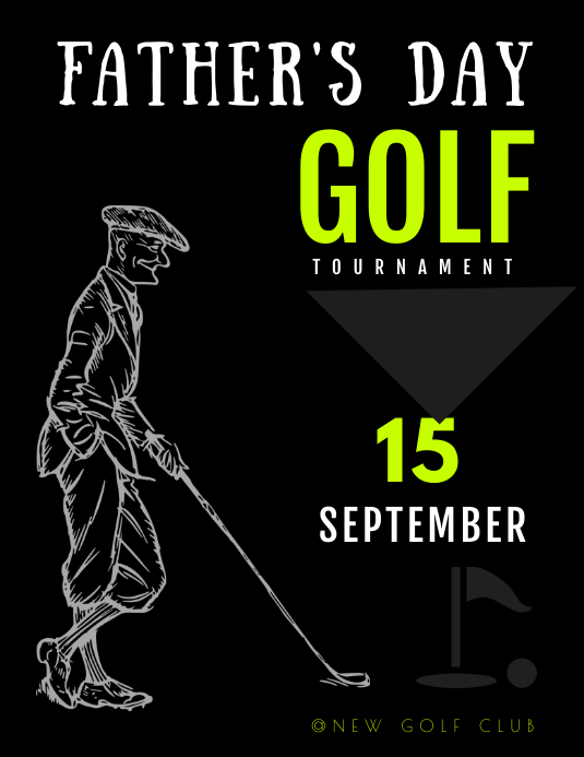 fathers day GOLF TOURNAMENT TEMPLATE