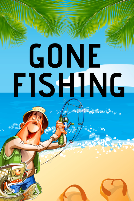 Fathers Day Gone Fishing Event Flyer Template Postermywall