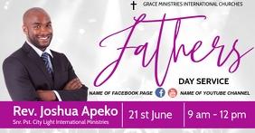 FATHERS DAY ONLINE CHURCH FLYER Facebook Gedeelde Prent template