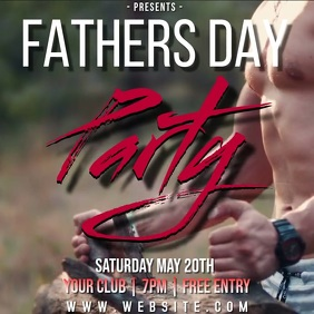 FATHERS DAY party ad TEMPLATE